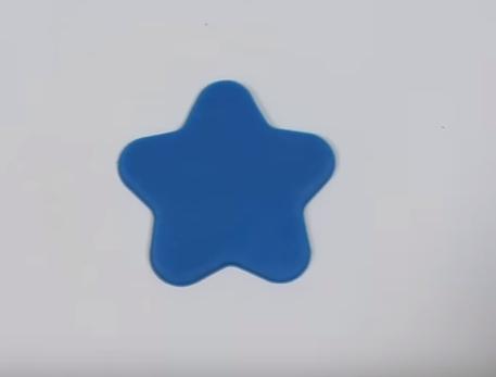 play doh, kształty, gwiazda