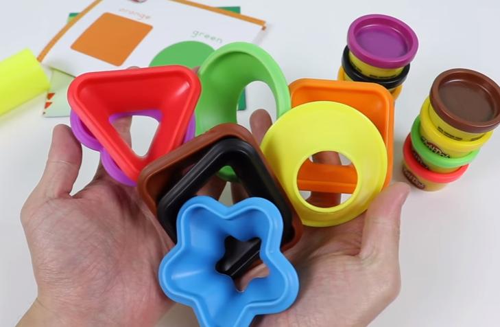 play doh kolory i kształty